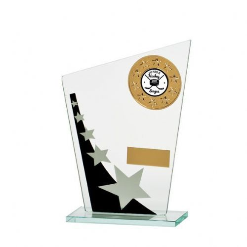 Mega Star Multisport Jade Glass Award Black & Silver 165mm